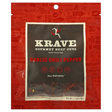 Krave Beef Jerky Garlic Chili Pepper - 2.7 Oz