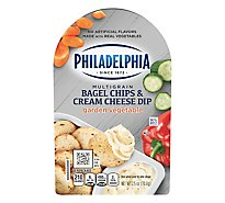 Philadelphia Bagel Chips & Cream Cheese Dip Multigrain Garden Vegetable - 2.5 Oz