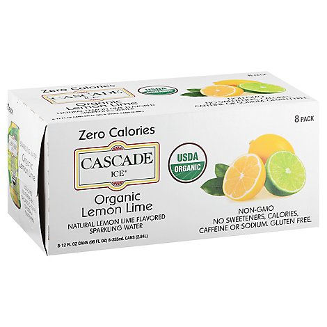 Cascade Ice Organic Lemon Lime - 8-12 Fl. Oz.