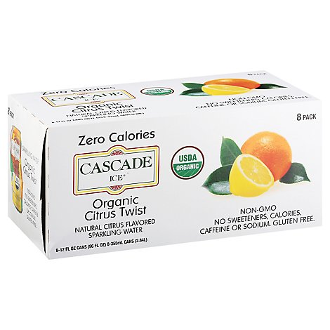 Cascade Ice Organic Citrus Twist - 8-12 Fl. Oz.