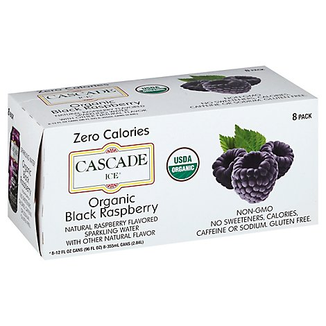 Cascade Ice Organic Black Raspberry - 8-12 Fl. Oz.