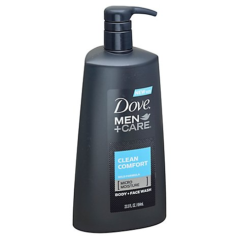 Dove Men+Care Body + Face Wash Clean Comfort - 23.5 Fl. Oz.