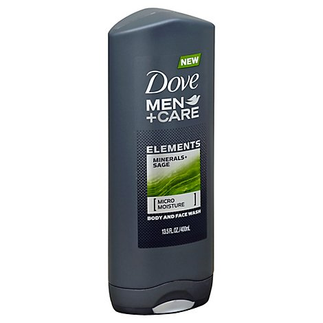 Dove Men+Care Body + Face Wash Elements Minerals + Sage - 13.5 Fl. Oz.
