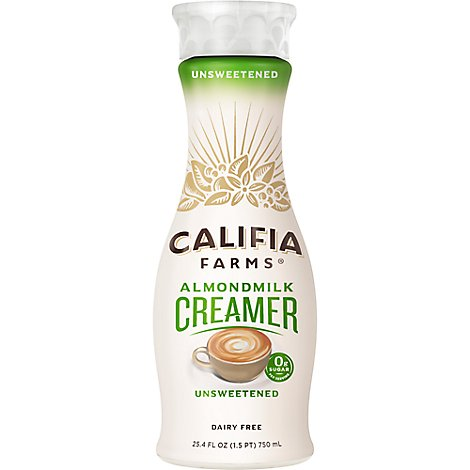 Califia Farms Creamer Unsweetened Almond Milk - 25.4 Fl. Oz.