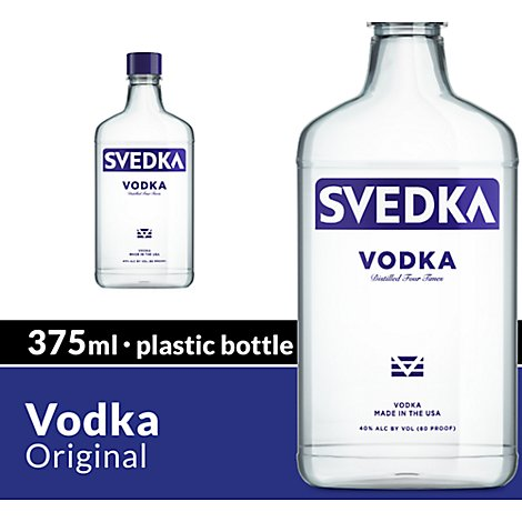 SVEDKA Vodka Bottle 80 Proof - 375 Ml