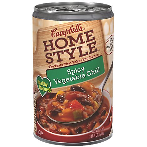 Campbells Home Style Soup Spicy Vegetable Chili - 19 Oz