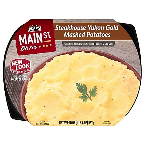 Main Street Bistro Side Steakhouse Yukon Gold Mashed Potatoes - 20 Oz