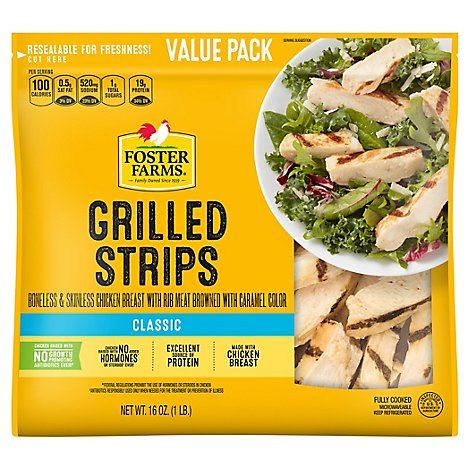 Foster Farms Chicken Breast Strips Grilled - 16 Oz
