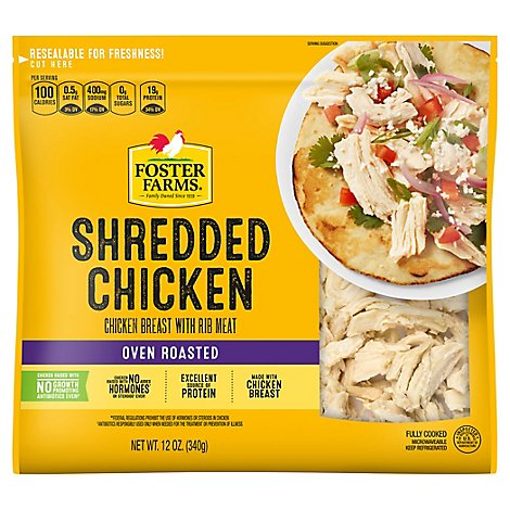 Foster Farms Chicken Breast Shredded - 12 Oz