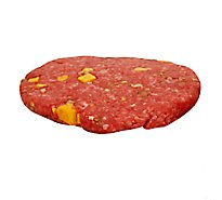Meat Service Counter Ground Beef Pub Burger Cheddar & Jalapeno 1 Count - 6 Oz