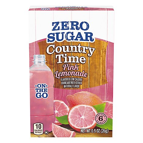Country Time Drink Mix Lemonade Pink - 0.9 Oz