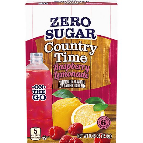 Country Time Drink Mix Lemonade Raspberry - 0.48 Oz