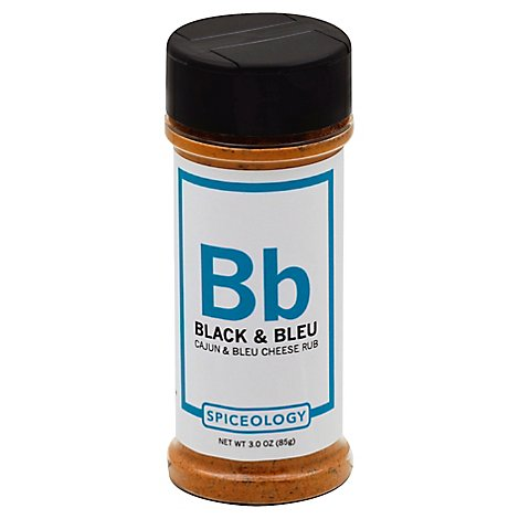 Spiceologist Spice Blend Cajun & Bleu Cheese Rub Black & Bleu - 3 Oz