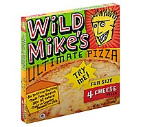Wild Mikes Pizza 4 Cheese Fun Size 9 Inch Frozen - 12.62 Oz