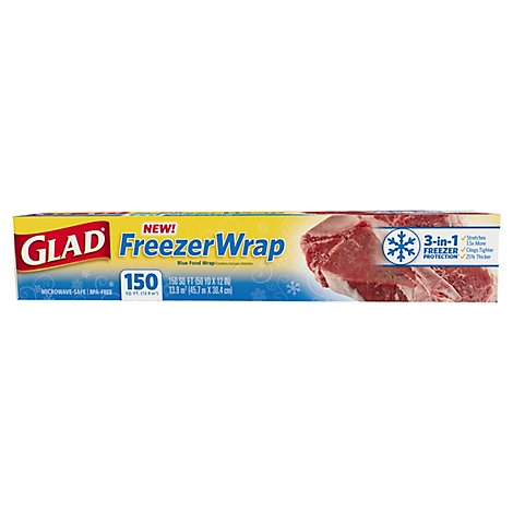 Glad Plastic Wrap Freezer Wrap 150 Sq. Ft. - Each