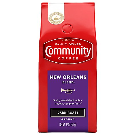 Community Coffee Coffee Ground Special Dark Roast New Orleans Blend - 12 Oz