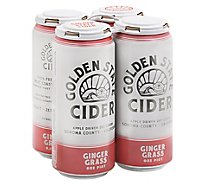 Golden State Gingergrass Cider In Cans - 4-16 Fl. Oz.
