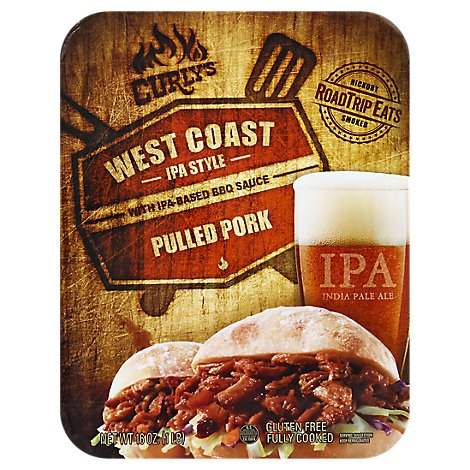 Curlys Pulled Pork West Coast IPA Style - 16 Oz