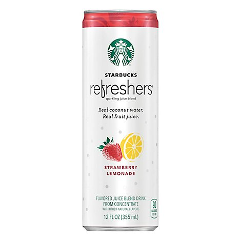 Starbucks Refreshers Juice Blend Drink Strawberry Lemonade - 12 Fl. Oz.