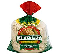 Guerrero Tortillas Corn White Maiz Blanco Caseras Bag 48 Count - 48 Oz