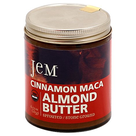 Jem Raw Cinnamon Red Maca Almond Spread - 6 Oz
