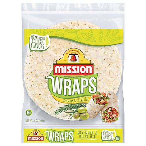 Mission Wraps Rosemary & Olive Oil Bag 6 Count - 15 Oz