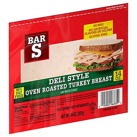 Bar-S Turkey Breast Oven Roasted - 14 Oz