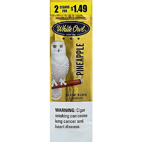 White Owl Pineapple Cigarillo 2/1.49 - 2 Count