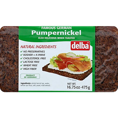 Delba Pumpernickel Feldkamp Bread - 16.75 Oz