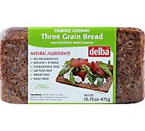 Delba Bread 3 Grain Feldkamp - 16.75 Oz