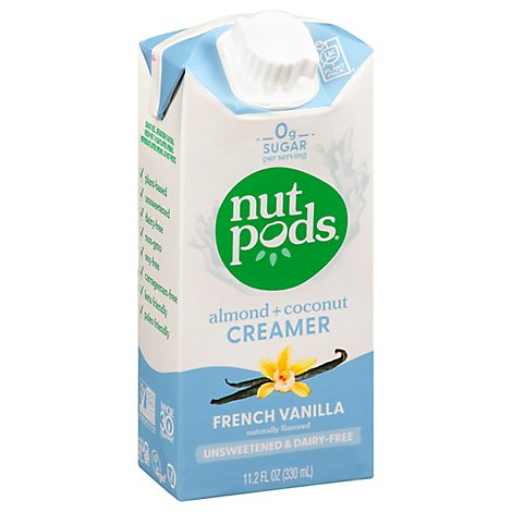 Nutpods Creamer Dairy-Free Unsweetened French Vanilla - 11.2 Fl. Oz.