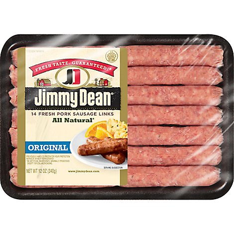 Jimmy Dean Premium All Natural Original Pork Sausage Links 14 Count - 12 Oz