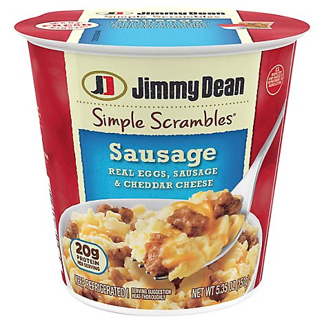 Jimmy Dean Sausage Simple Scrambles - 5.35 Oz