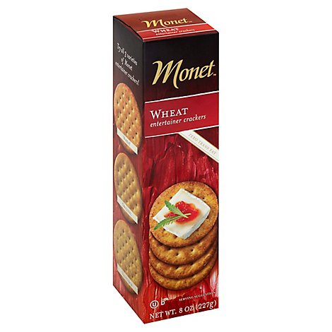 Monet Wheat Cracker Elegant - 8 Oz