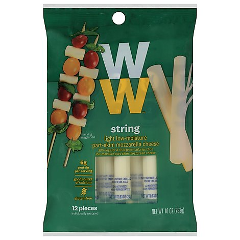 Weight Watchers String Cheese Mozzarella 12 Pack - 10 Oz