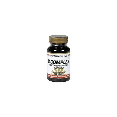 B-Complex 100% Daily Value Tablets - 100 Count