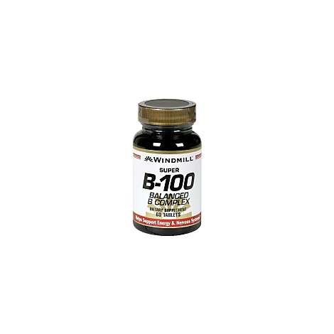 Super B-100 Balanced B Complex Tablets - 60 Count