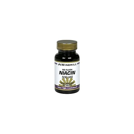 No Flush Niacin 500 Mg Tablets - 30 Count