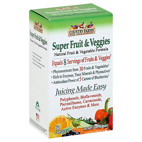Country Farms Fruits & Veggies Capsules - 60 Count