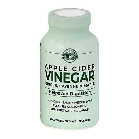 Country Farms Apple Cider Vinegar Caps - 90 Count