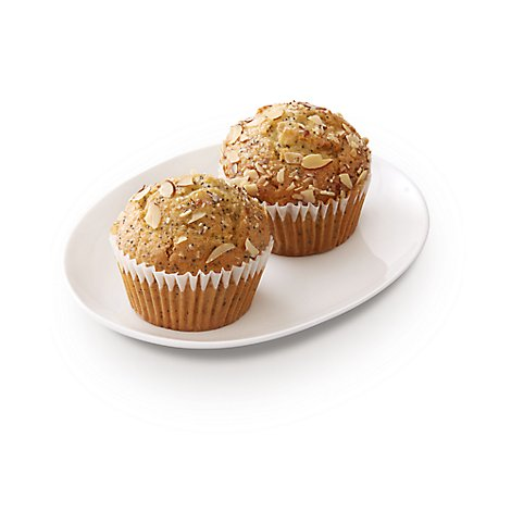Bakery Muffins Almond Poppy Seed 2 Count - Each