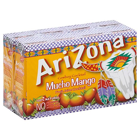 Arizona Mucho Mango Cowboy Cocktail Fruit Juice Cocktail Tetra Brick - 8-6.75 Oz