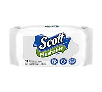 Scott Naturals Cleansing Cloths Flushable Tub Refill Wrapper - 51 Count