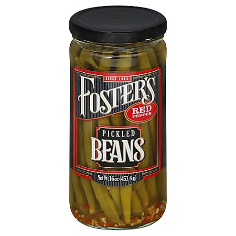 Fosters Pickled Products Bean Green Red Pepper - 16 Oz