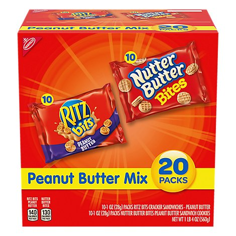 Nabisco Peanut Butter Lovers Multipack - 20 -1 lb 4 Oz