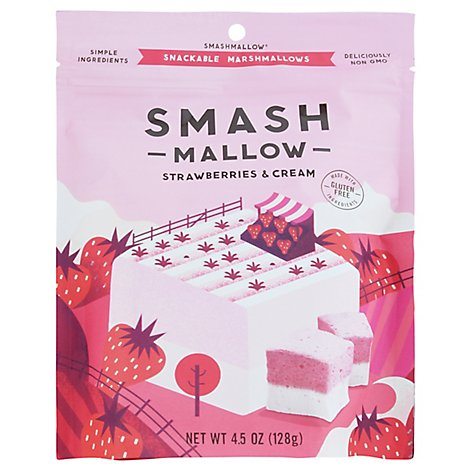 Smashmallow Marshmallow Strawberries & Cream - 4.5 Oz