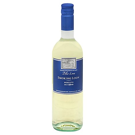Smoking Loon Moscato Blue Loon Wine - 750 Ml