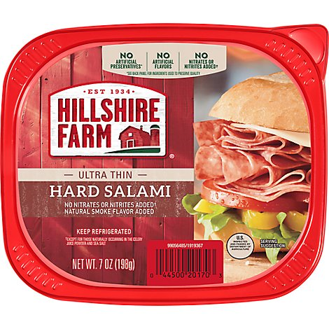 Hillshire Farm Ultra Thin Sliced Lunchmeat Uncured Hard Salami - 7 Oz