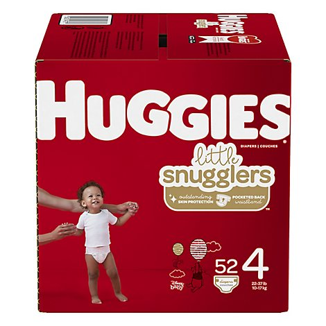 Huggies Little Snugglers Diapers Size 4 Big Pack - 52 Count
