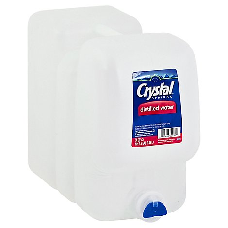 Crystal Spring Distilled Water - 2.5 Gallon